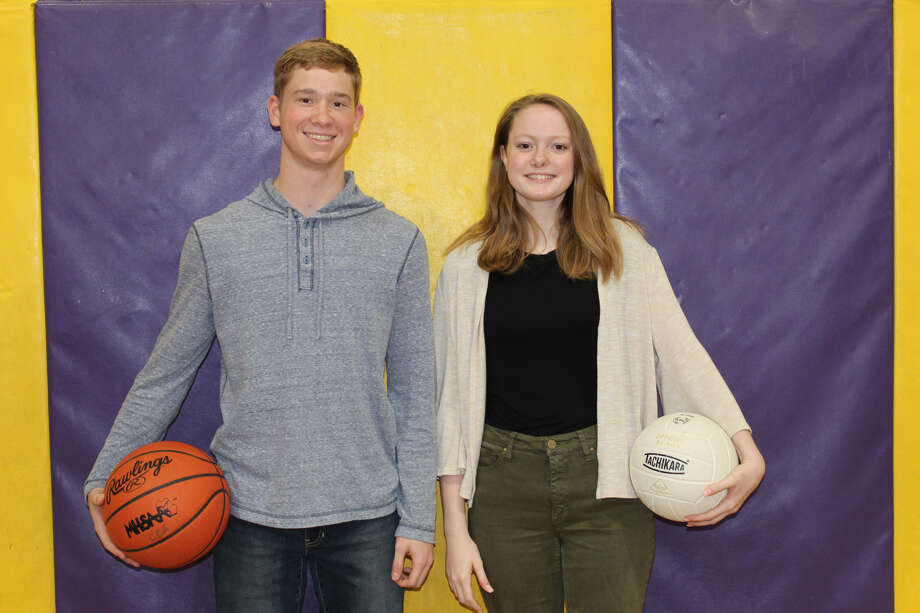 Mark Dickerson III, left, and Lydia Hillebrand, both seniors at Calvary Baptist Academy, will continue their athletic careers at the collegiate level.