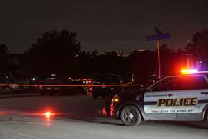 A man barricaded himself at a residence in the 800 block of Mandolin Wind on Tuesday night after allegedly firing a shot while San Antonio police spoke to two people about a report of family violence.