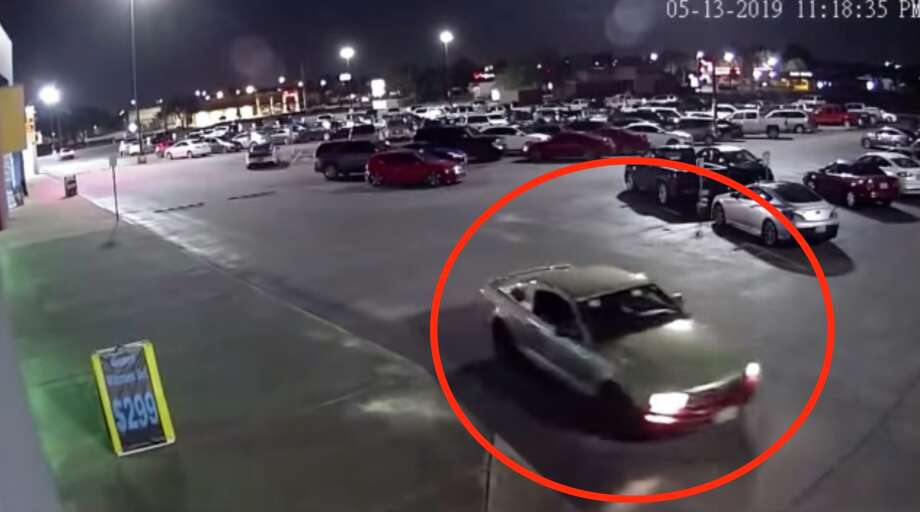 Pasadena Police Department detectives are looking for the driver of this green Ford Mustang with dark-color primer on the front bumper whose accused of following a woman home from a gym, abducting her and sexually assaulting her early Tuesday, May 14, 2019. Anyone with information is urged to call Pasadena PD Detective J. Stephens at 713-475-7896. Photo: Pasadena Police Department