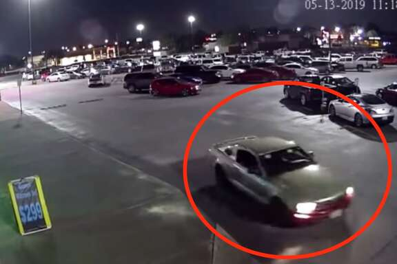 Pasadena Police Department detectives are looking for the driver of this green Ford Mustang with dark-color primer on the front bumper whose accused of following a woman home from a gym, abducting her and sexually assaulting her early Tuesday, May 14, 2019.Anyone with information is urged to call Pasadena PD Detective J. Stephens at 713-475-7896.