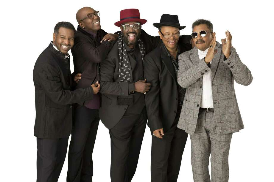 The Temptations current lineup, from left, consists of Terry Weeks, Larry Braggs, Otis Williams, Willie Green and Ron Tyson. Photo: Shubert Theatre / Contributed Photo