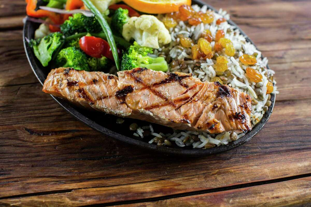 Mediterranean salmon at Local Table,a new casual neighborhood restaurant (from the owners of Hungry's restaurants) opening in Cypress at Lakeland Village Center, 10535 Fry Road, on June 3.