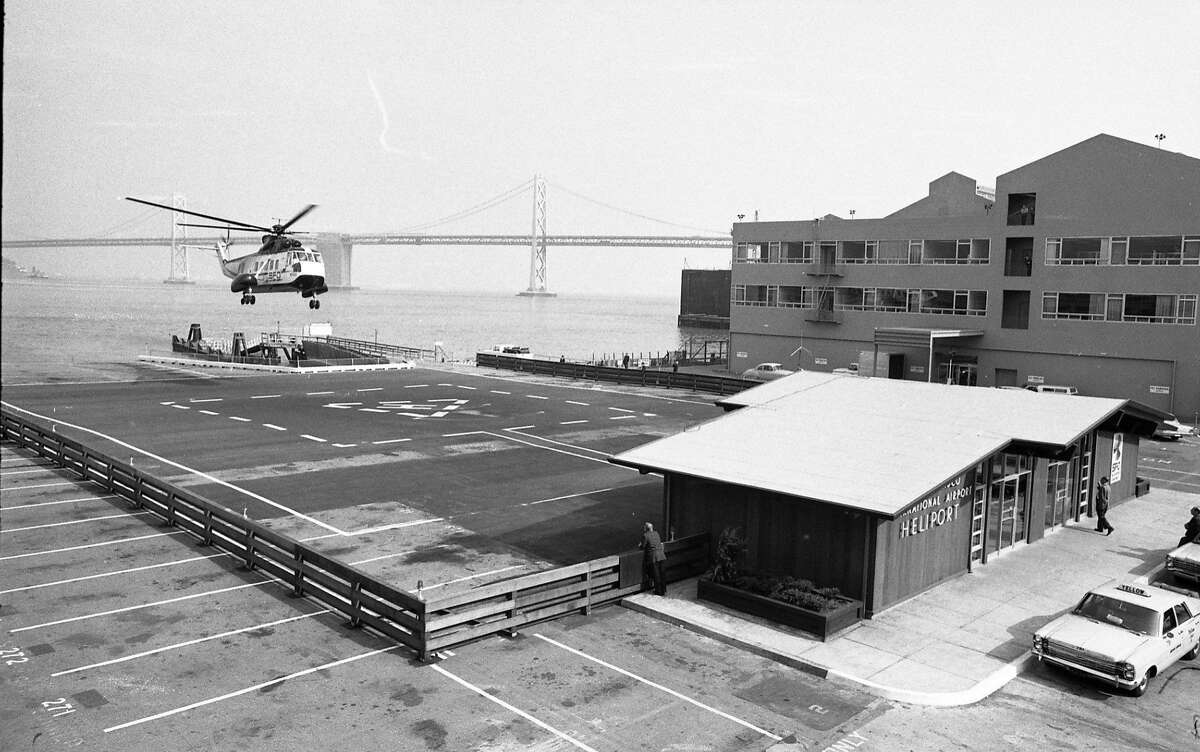 In the 1960s and 1970s, this helipad was used to transport passengers from downtown to SFO and OAK- see slideshow for more images