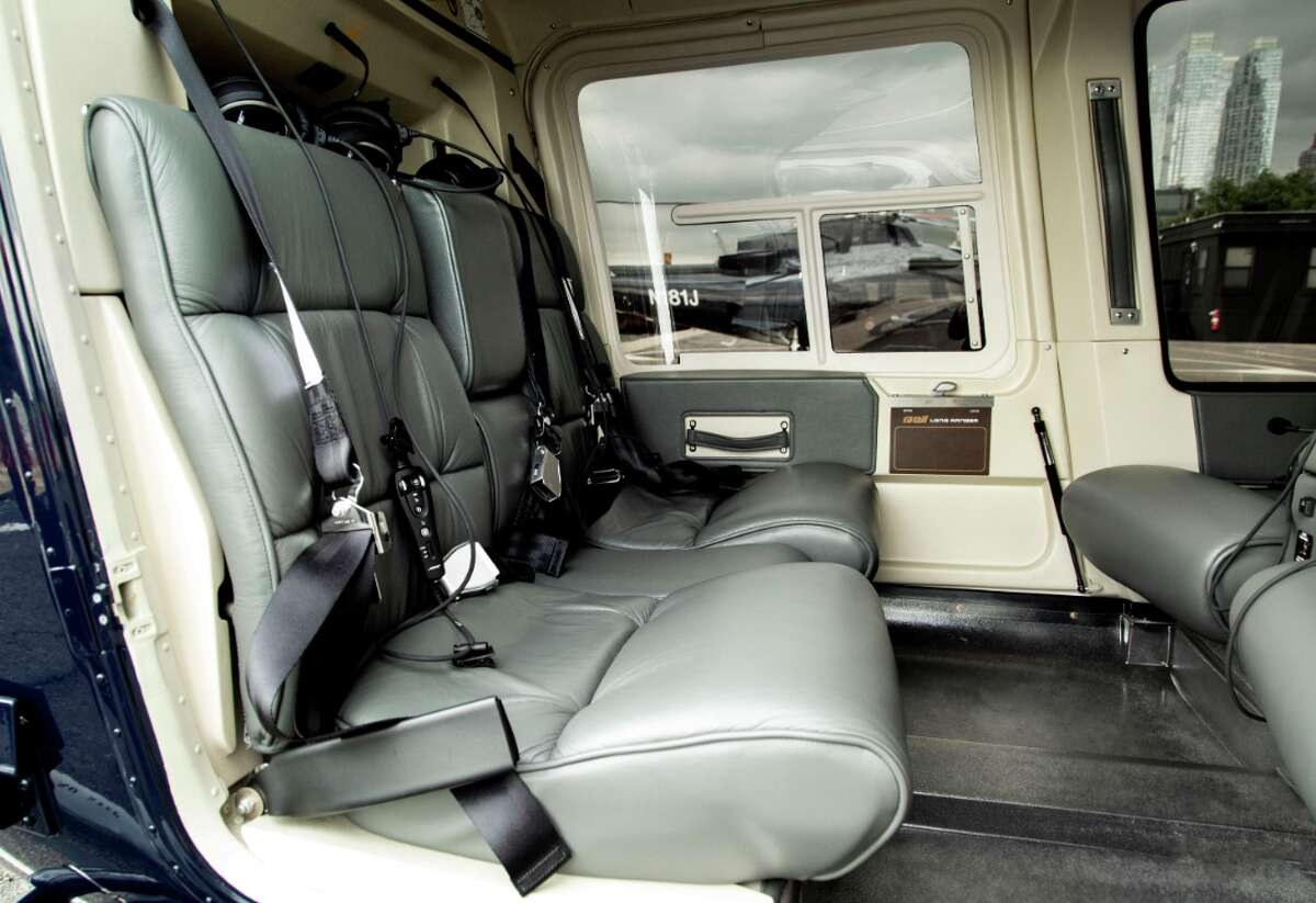 Inside the a Bell helicopter used on Blade's Bay Area flights