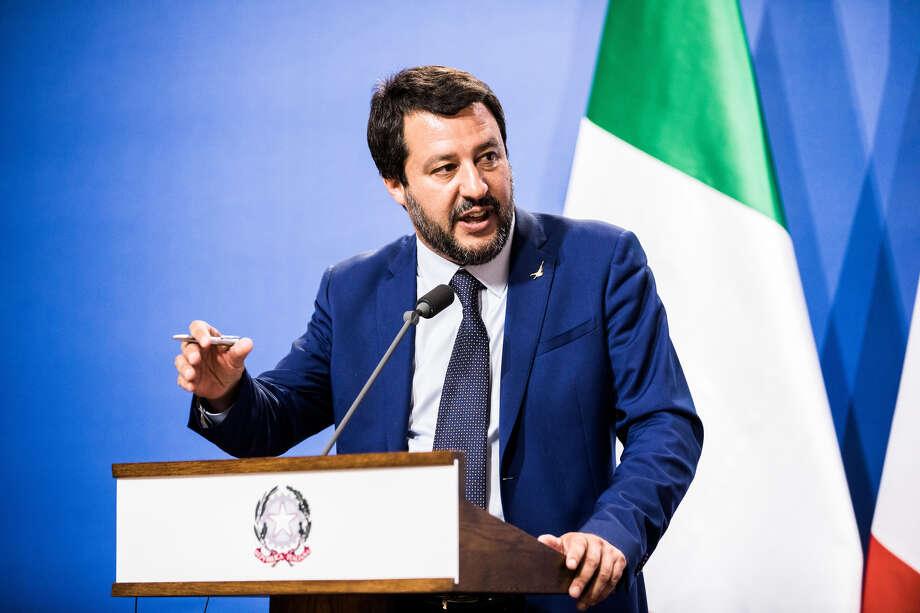 Matteo Salvini. Photo: Bloomberg Photo By Akos Stiller / Bloomberg