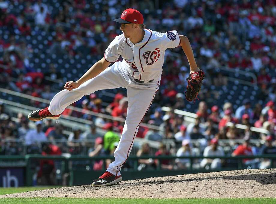 Erick Fedde has thrown seven scoreless innings out of the bullpen this season. Photo: Washington Post Photo By Toni L. Sandys / The Washington Post