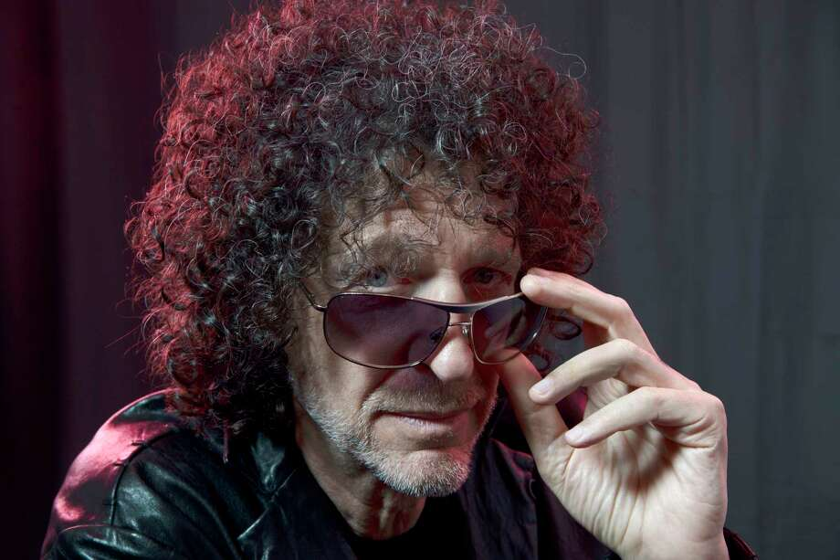 """""""I tried to watch some of my old Letterman (appearances),"""" says Howard Stern, photographed in his New York studio in May. """"I couldn't get through two minutes of it."""" Photo: Washington Post Photo By Marvin Joseph / The Washington Post"""
