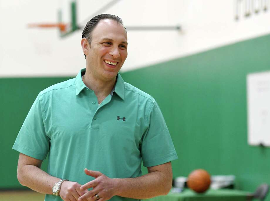 Siena men's basketball head coach Carmen Maciariello smiles during media availability on Wednesday, May 15, 2019 at Siena College in Loudonville, NY. (Phoebe Sheehan/Times Union) Photo: Phoebe Sheehan, Albany Times Union / 20046946A