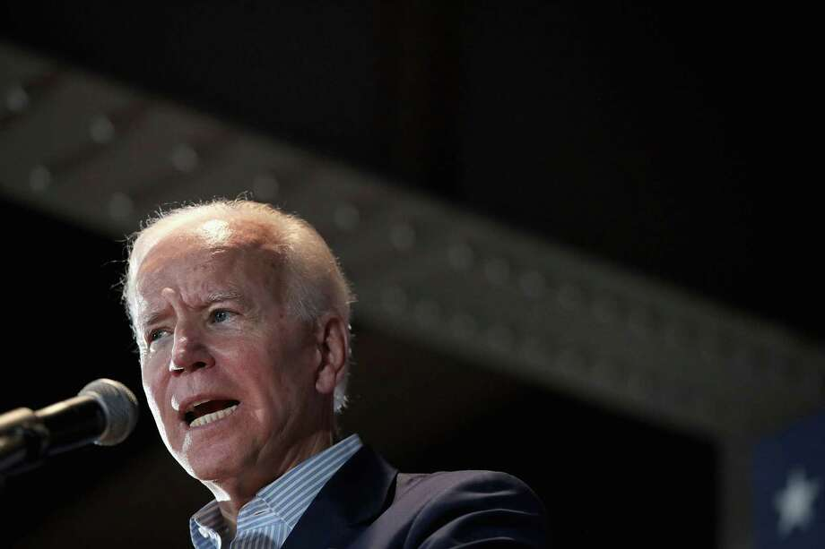 Democratic presidential candidate and former vice president Joe Biden holds a campaign event at the Veterans Memorial Building on Tuesday in Cedar Rapids, Iowa. Photo: Getty Images / 2019 Getty Images