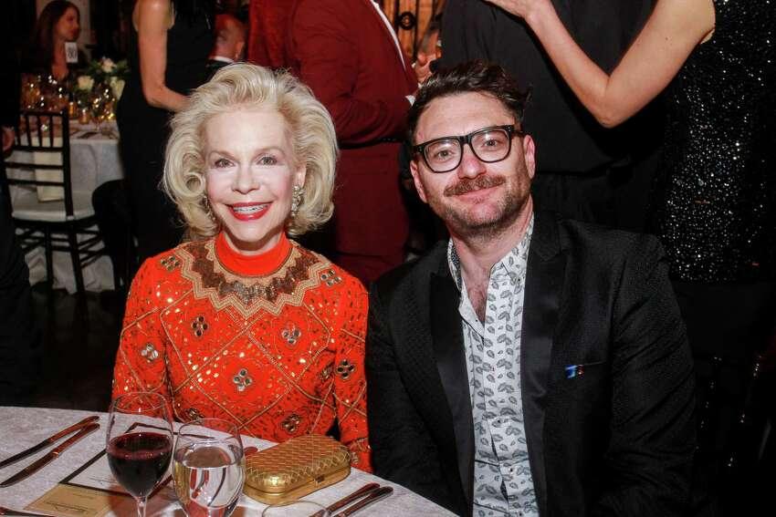 Lynn Wyatt and John Abodeely at Rothko Chapel's Illumination Gala.