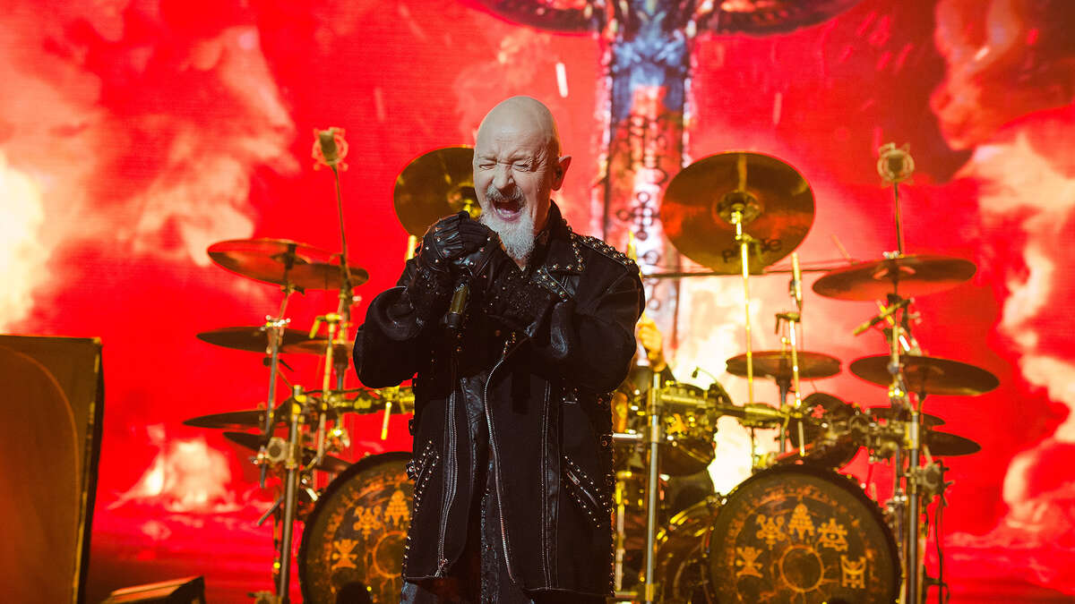 Rob Halford from Judas Priest performs at Zenith de Paris on January 27, 2019 in Paris, France. (Photo by David Wolff - Getty Images)