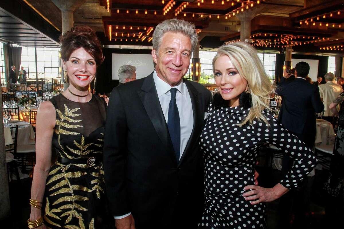 Marla Hurley, from left, Steve Wyatt and Joyce Echols at Rothko Chapel's Illumination Gala.