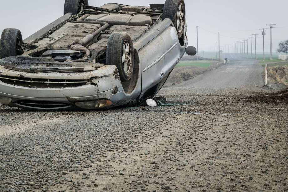 A woman died and a man was injured in a single-vehicle rollover reported Sunday in south Laredo, authorities said. Photo: Steve Story Photography/Getty Images/500px Prime