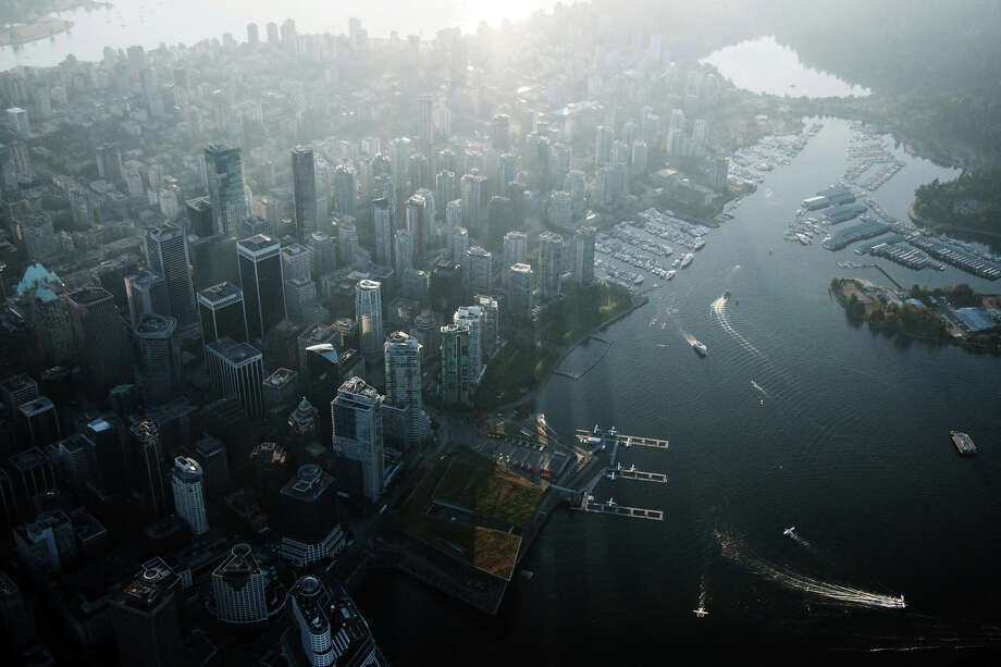 An aerial view of Vancouver, British Columbia, on Sept. 6, 2018. Photo: Bloomberg Photo By James MacDonald. / © 2018 Bloomberg Finance LP