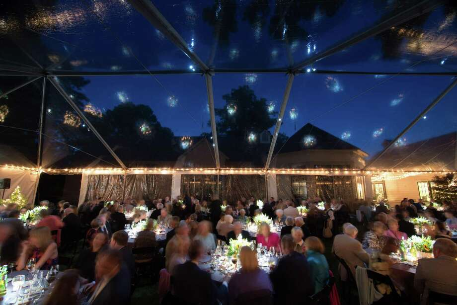 Guests enjoy dinner at a previous year's Fairfield Museum gala Photo: Contributed Photo / ©2017