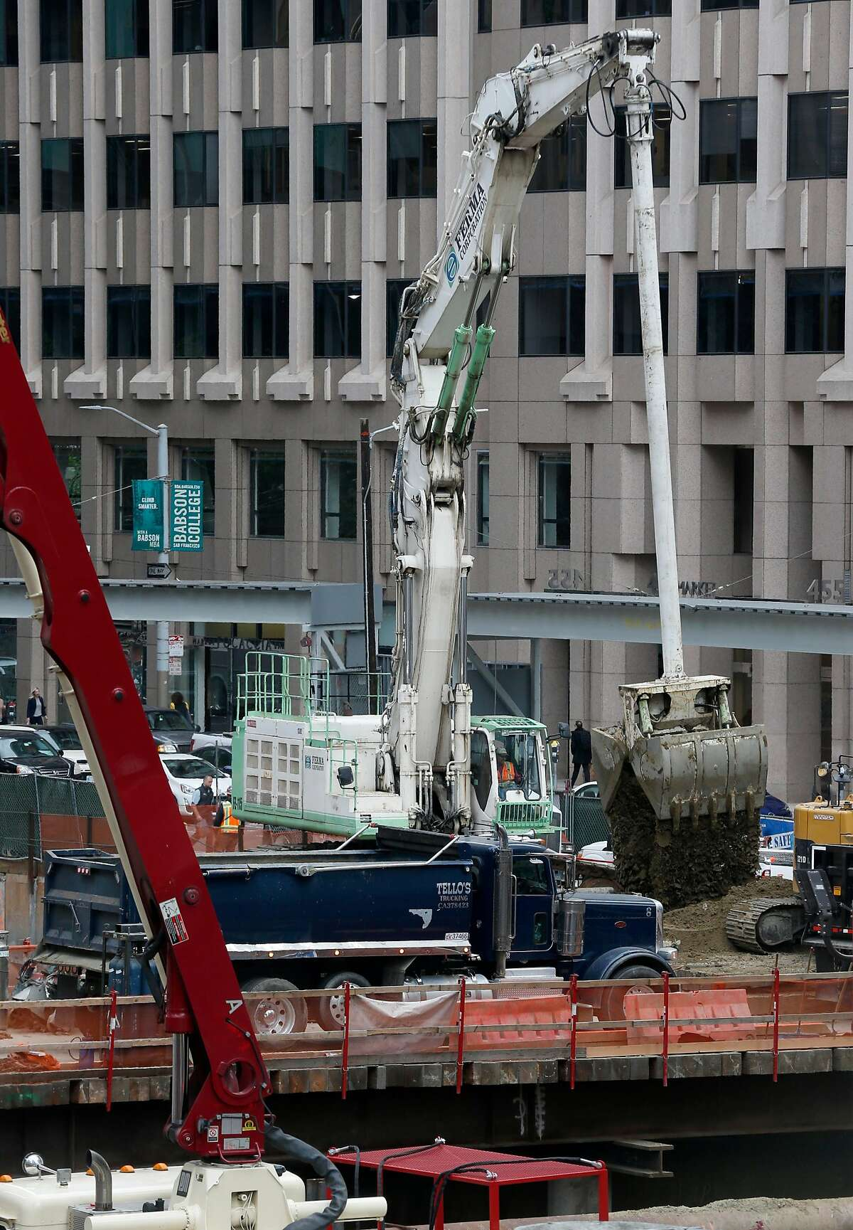 Construction of the Oceanwide Center office tower at First and Mission streets continues in San Francisco, Calif. on Tuesday, May 7, 2019.