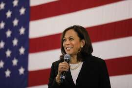 NASHUA, NEW HAMPSHIRE - MAY 15: Democratic presidential candidate U.S.  Sen. Kamala Harris (D-CA)  speaks at a campaign stop on May 15, 2019 in Nashua, New Hampshire. The Democrat and California senator is looking to differentiate herself from current front runner former Vice President Joe Biden who recently took a campaign swing through New Hampshire. (Photo by Spencer Platt/Getty Images)