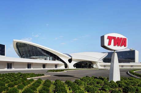 Eero Saarinen's classic 1962 TWA Flight Center at New York JFK serves as the public areas for the new TWA Hotel.