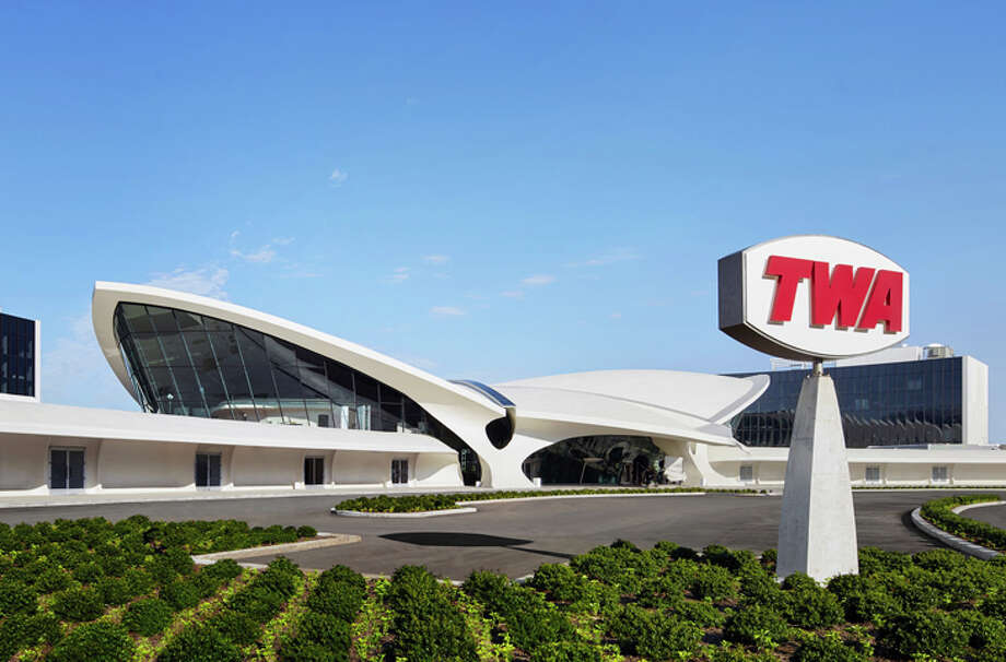 Eero Saarinen's classic 1962 TWA Flight Center at New York JFK serves as the public areas for the new TWA Hotel. Photo: TWA Hotel/David Mitchell