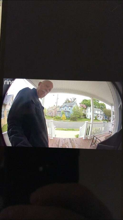Hamden police are looking to identify a man that allegedly stole a package from a Belmont Street residence Tuesday. Photo: Hamden Police Department