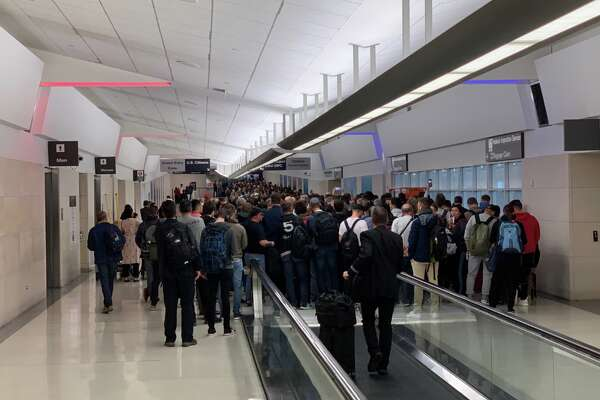 Hundreds, if not thousands, of travelers forced to stand in line for two hours to enter the US at SFO immigration