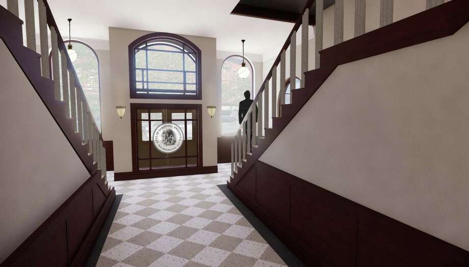 The proposed vestibule for Saratoga Springs City Hall, which is under renovation after the August 2018 fire. Photo: Provided By Saratoga Springs Preservation Foundation