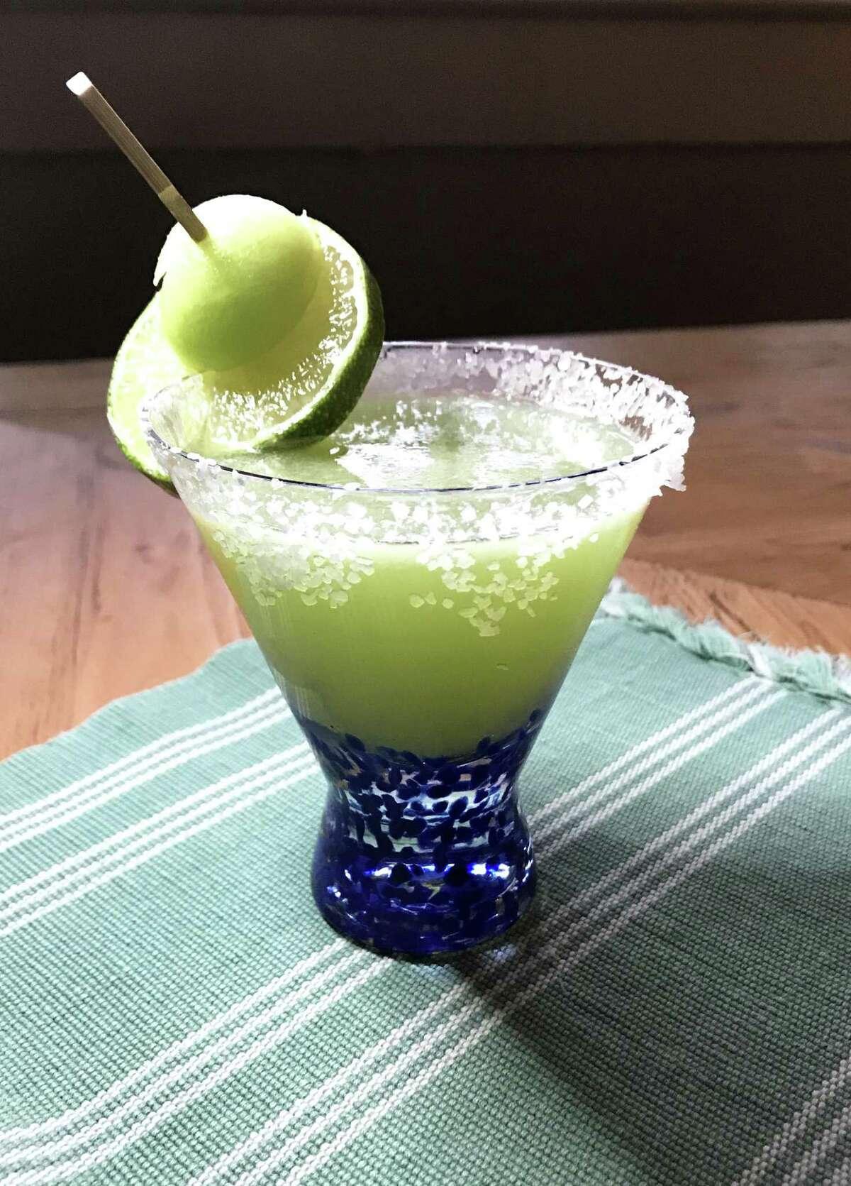 Honeydew Margarita, made with honeydew juice