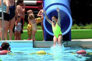 People enjoy a visit to the Wallingford Community Pool.