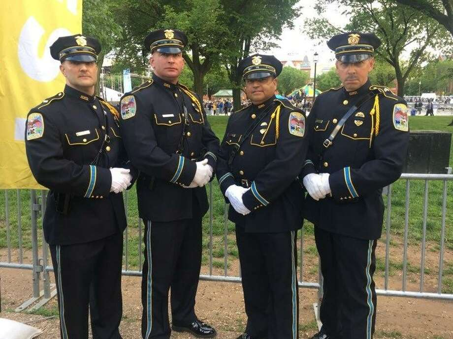 Members of the Danbury Police Department participated in the National Law Enforcement Officers Memorial Fund's 31st Annual Candlelight Vigil in Washington, D.C., on May 13, 2019. Photo: Danbury Police Department / Facebook