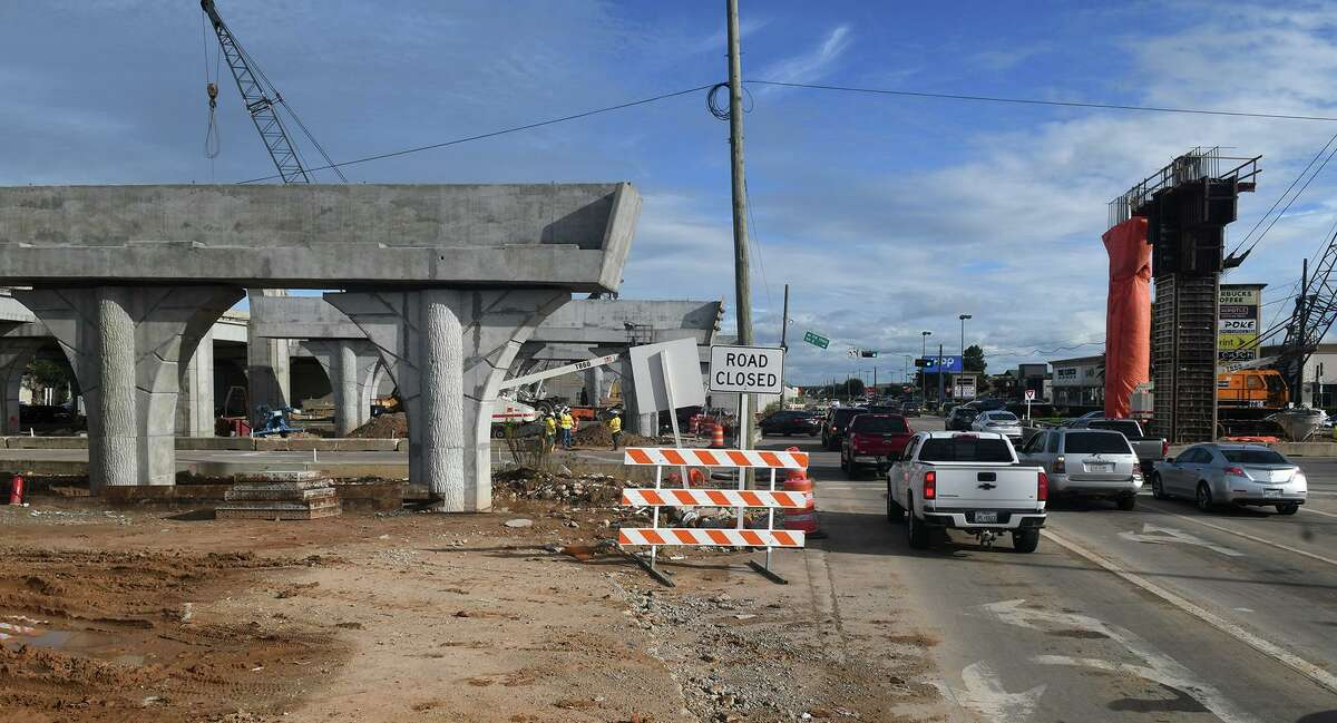 Construction continues in full swing at the intersection of Highway 290 and FM 1960 on Sept. 13, 2018.