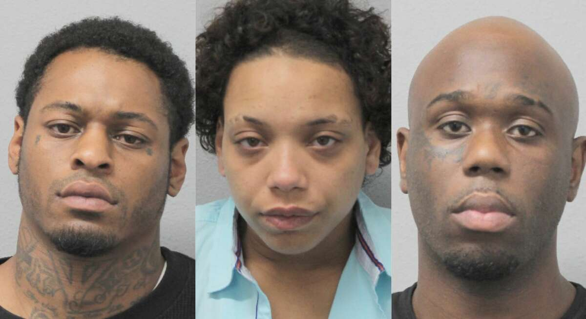Edward James Priestly, 31, Lenishia Williams, 29, and Roy Battle, 29, are accused of a series of aggravated robberies at several Walgreens stores throughout the Houston area in May 2019.
