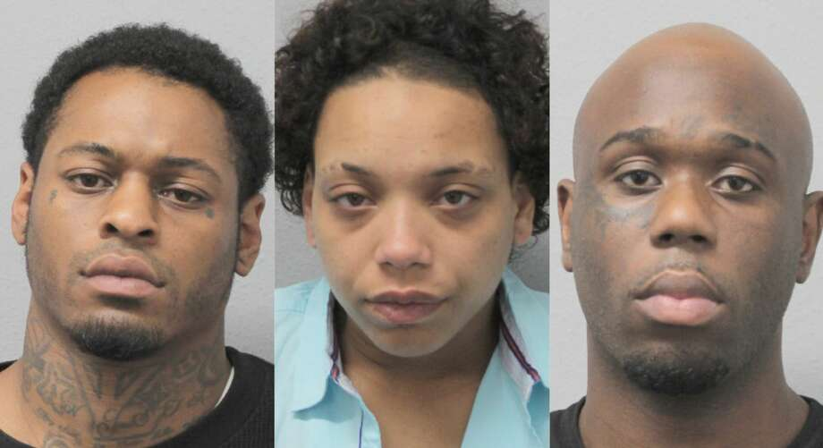 Edward James Priestly, 31, Lenishia Williams, 29, and Roy Battle, 29, are accused of a series of aggravated robberies at several Walgreens stores throughout the Houston area in May 2019. Photo: Harris County Sheriff's Office