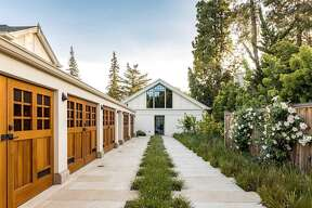 A 1917 estate that was fully remodeled maintaining its old-world flair sits on 1.12 acres in the heart Old Palo Alto at 369 Churchill Ave.