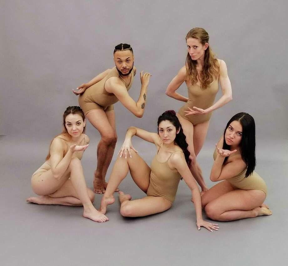 Connecticut Theater Dance Company includes: Back row: Tavon Dudley (New Haven), Carly Dorman (Stamford); front row: Emily Bivona (Bethel), Celina Lopez (Ansonia) and Kyra Alvarez (Newtown). Photo: Connecticut Theater Dance Company / Contributed Photo