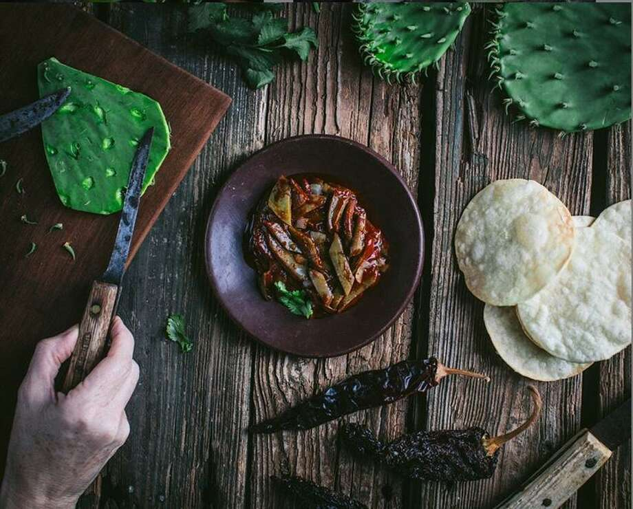 Melissa Guerra's nopalitos, a traditional stewed cactus dish. Photo: Melissa Guerra /@kitchenwrangler