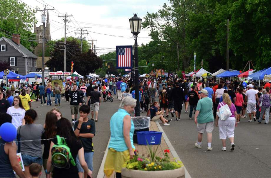 The Stratford Rotary Club's annual Stratford Main Street Festival will take place rain or shine on Saturday, June 1. Above is a scene from the 2015 event. Photo: Hearst Connecticut Media File Photo / Connecticut Post