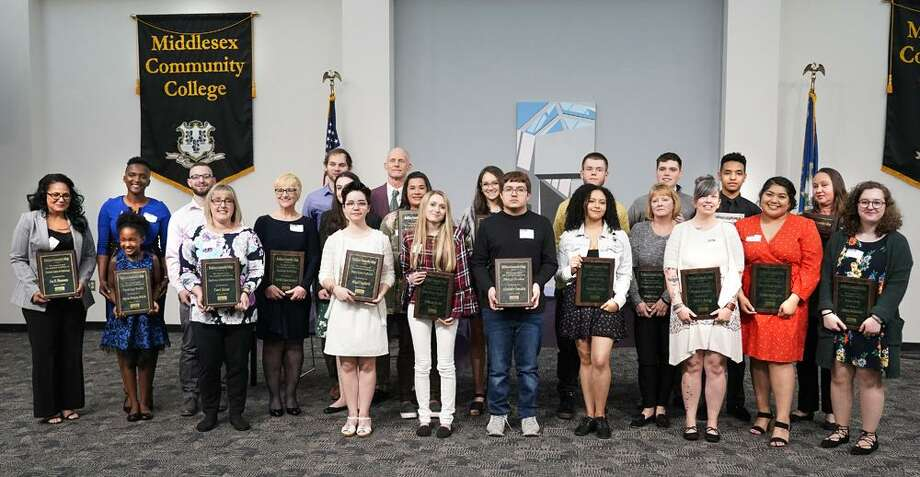 Middlesex Community College held its annual Academic Awards Night, recognizing two dozen students for stellar achievements in Middletown. Photo: Contributed Photo / langevin