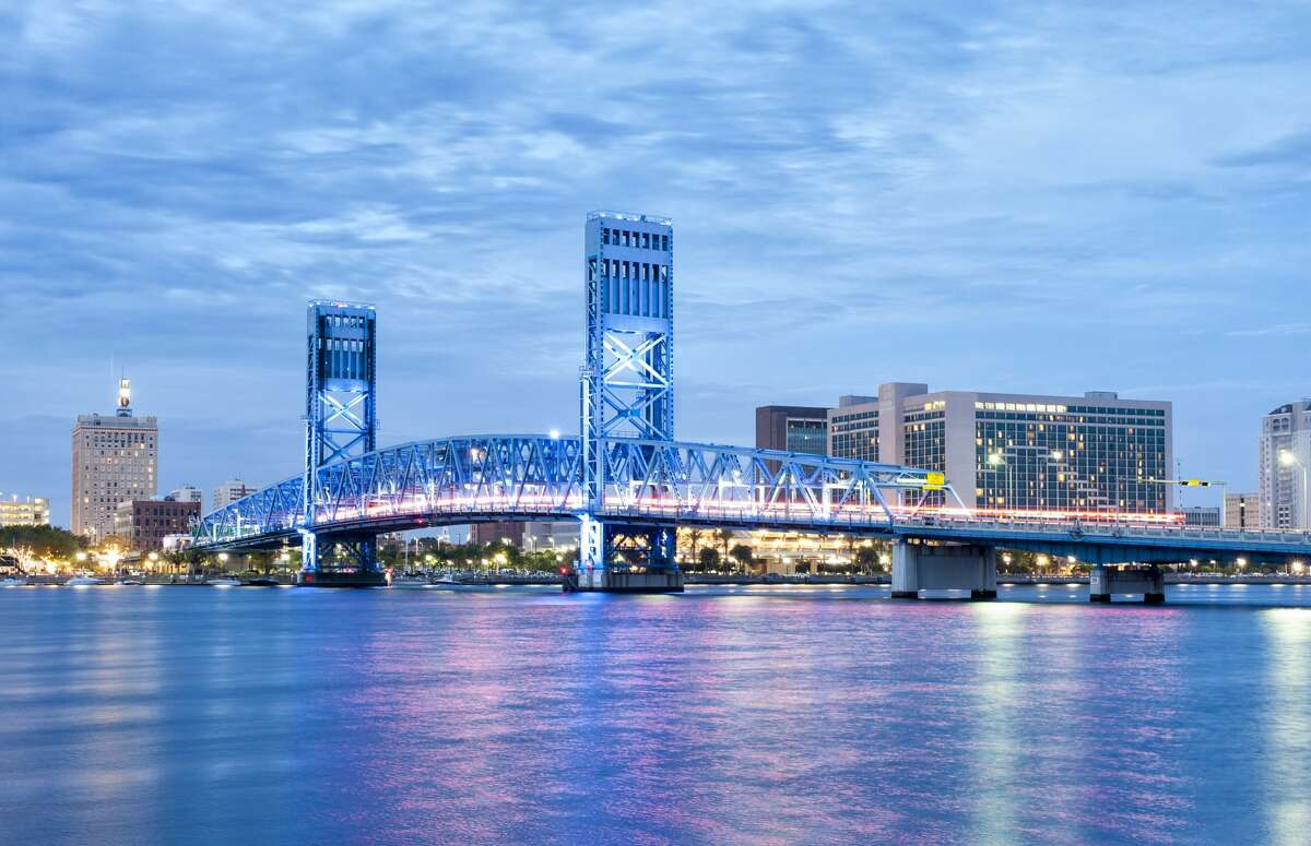 13. Jacksonville, Fla. Millennial percent growth from 2012-2017: 13.9  Millennial population percent: 17.1  Millennial median earnings: 36,403 dollars Cost of living: 5 percent below average