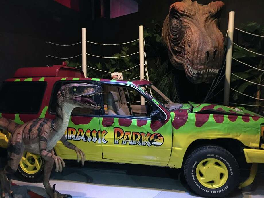 "The ""Jurassic Park"" SUV and Raptor Photo: Courtesy, PMX Events"