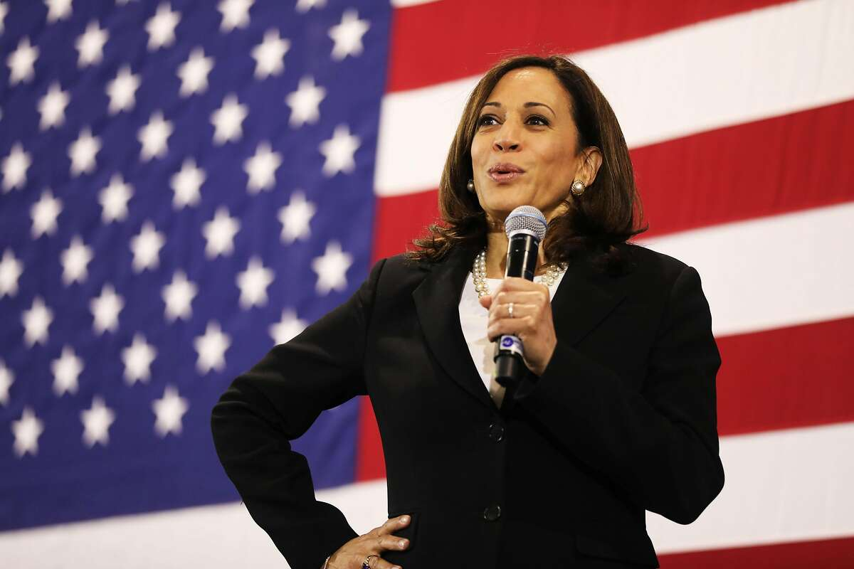 NASHUA, NEW HAMPSHIRE - MAY 15: Democratic presidential candidate U.S. Sen. Kamala Harris (D-CA) speaks at a campaign stop on May 15, 2019 in Nashua, New Hampshire. The Democrat and California senator is looking to differentiate herself from current front runner former Vice President Joe Biden who recently took a campaign swing through New Hampshire. (Photo by Spencer Platt/Getty Images) *** BESTPIX ***