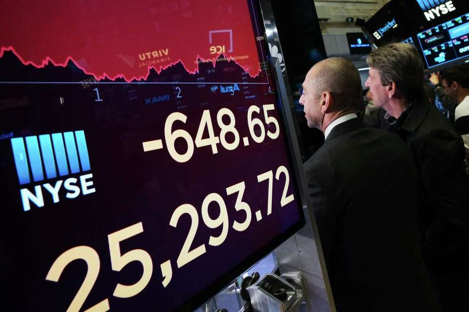 Predictably, the Dow plunged Monday after President Donald Trump upped the ante in his trade war with China. Photo: Mark Lennihan /Associated Press / Copyright 2019 The Associated Press. All rights reserved