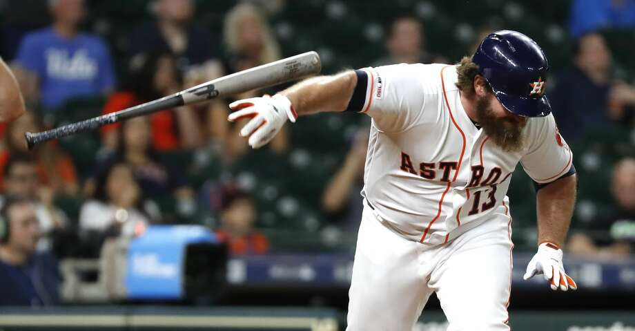 PHOTOS: Astros game-by-game Houston Astros Tyler White (13) slams his bat to the ground as he flies out to right against the Kansas City Royals during the ninth inning of a major league baseball game at Minute Maid Park on Tuesday, May 7, 2019, in Houston. Browse through the photos to see how the Astros have fared in each game this season. Photo: Brett Coomer/Staff Photographer