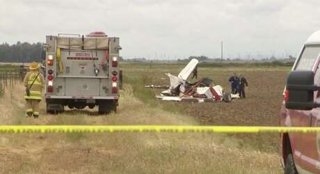Two planes collided Wednesday in Sutter County, authorities told KCRA. Photo: KCRA