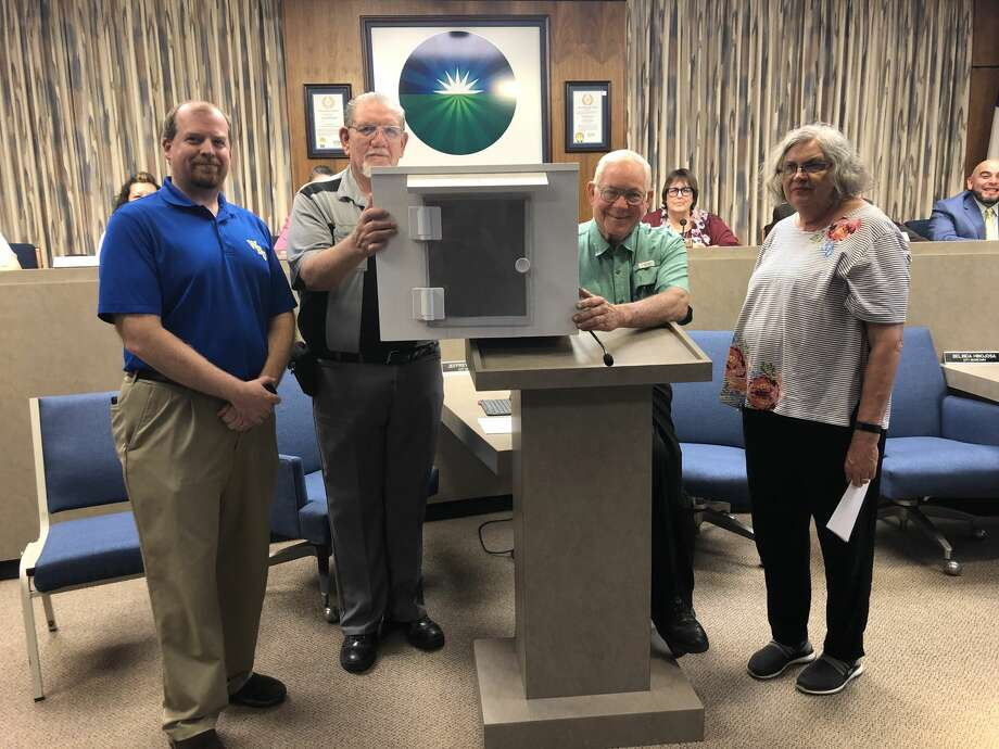 The City Council approved the Breakfast Lions Club's Little Free Library program during its regular meeting Tuesday night.  Photo: Deborah Zacher/For The Herald