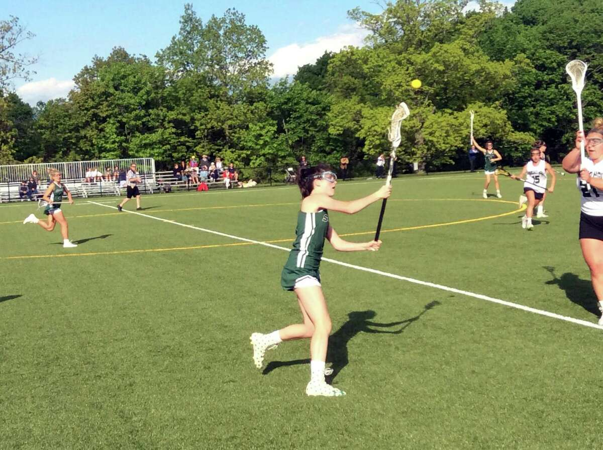 Franny O'Brien scored two goals in Sacred Heart Greenwich's 20-4 win over Hamden Hall on Wednesday in Greenwich.