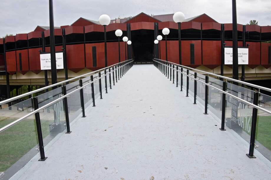 Saratoga Performing Arts Center unveils its brand new amphitheater ramps just prior to opening for the 2019 summer season on Wednesday, May 15, 2019 in Saratoga Springs, N.Y. (Lori Van Buren/Times Union) Photo: Lori Van Buren, Albany Times Union / 20046909A