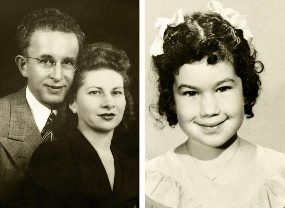 Left: Charles Bogner with his second wife, Katherine Bogner. Right: A kindergarten graduation photo taken in 1951 shows their firstborn, Claudia. Photo: Courtesy Claudia Bogner