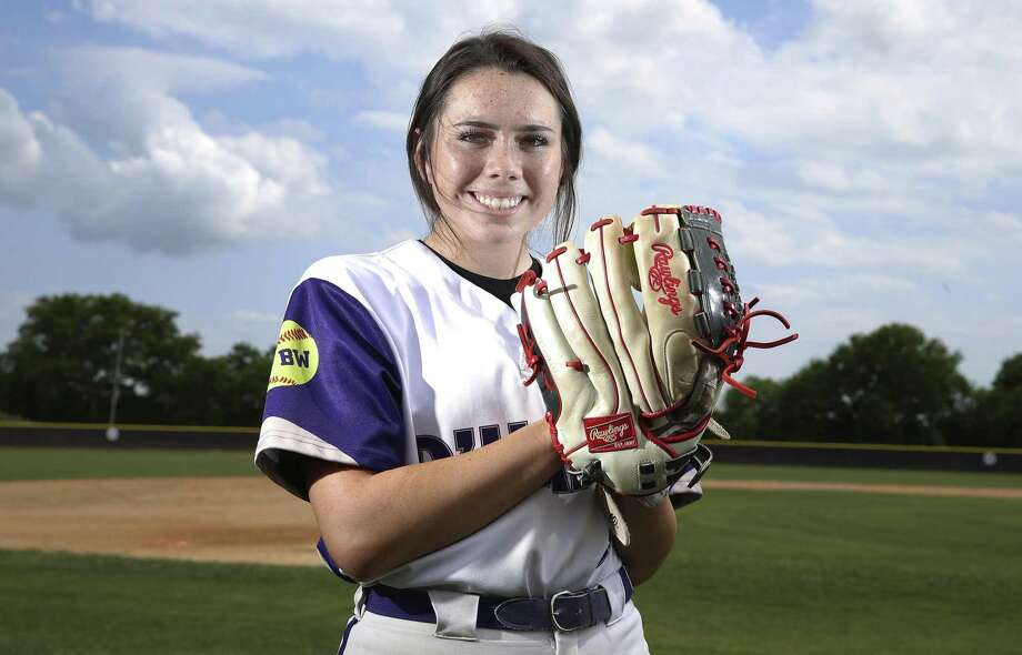 D'Hanis High School baseball pitcher Alex Magers and softball pitcher Marissa Santos have recently achieved a rare distinction for their respective sports. Last Friday, Senior Magers pitched a no-hitter against Bruni as freshman Santos pitched a perfect game against Medina. Both teams are currently playing toward reaching their respective state tournaments. (Kin Man Hui/San Antonio Express-News) Photo: Kin Man Hui, Staff / Staff Photographer / ©2019 San Antonio Express-News