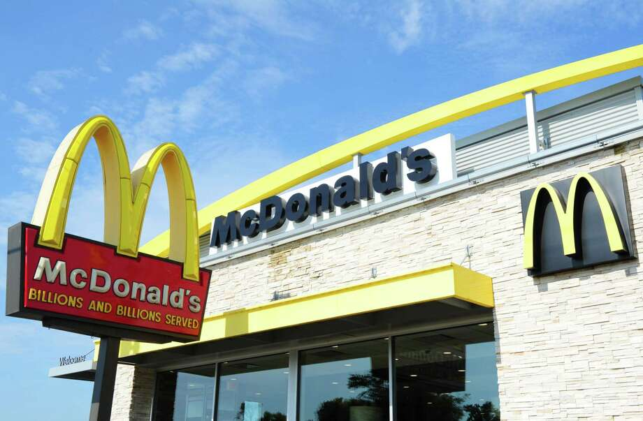 "(FILES) In this file photo taken on September 10, 2016, a McDonald's restaurant in Gettysburg, Pennsylvania. - Despite appealing to America's love affair with bacon and donuts, McDonald's reported a dip in first-quarter profits on April 30, 2019. The fast-food giant scored a solid 4.5 percent jump in first-quarter comparable sales in its home market, lifted by special offers including ""the Bacon Event"" and the ""Donut Sticks"" launch. (Photo by Karen BLEIER / AFP)KAREN BLEIER/AFP/Getty Images Photo: KAREN BLEIER / AFP or licensors"