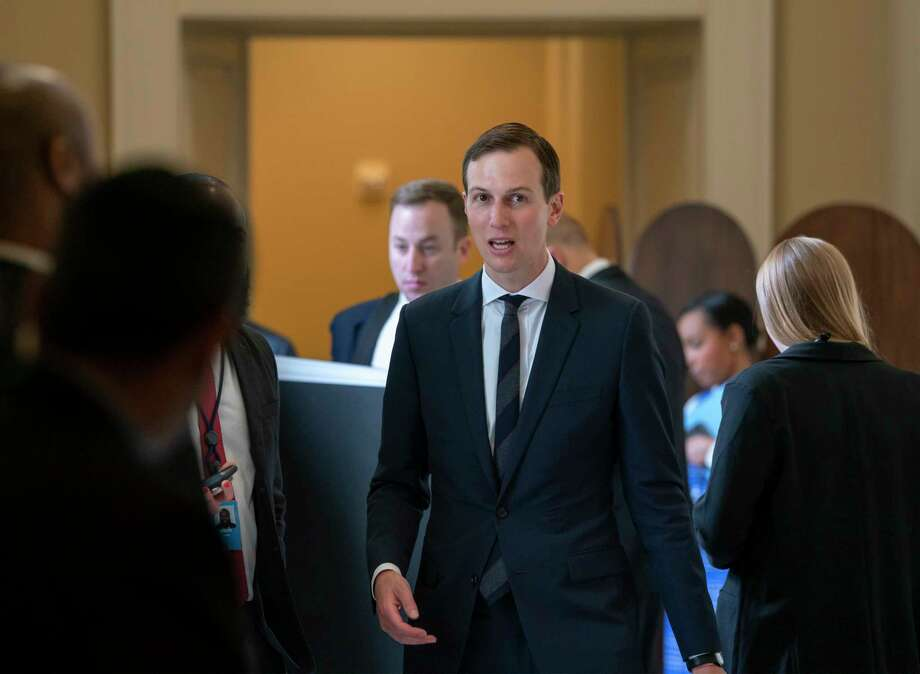 President Donald Trump's senior adviser, and son-in-law, Jared Kushner, departs the Capitol after a meeting with Senate Republicans, in Washington, Tuesday, May 14, 2019. (AP Photo/J. Scott Applewhite) Photo: J. Scott Applewhite / Copyright 2019 The Associated Press. All rights reserved.